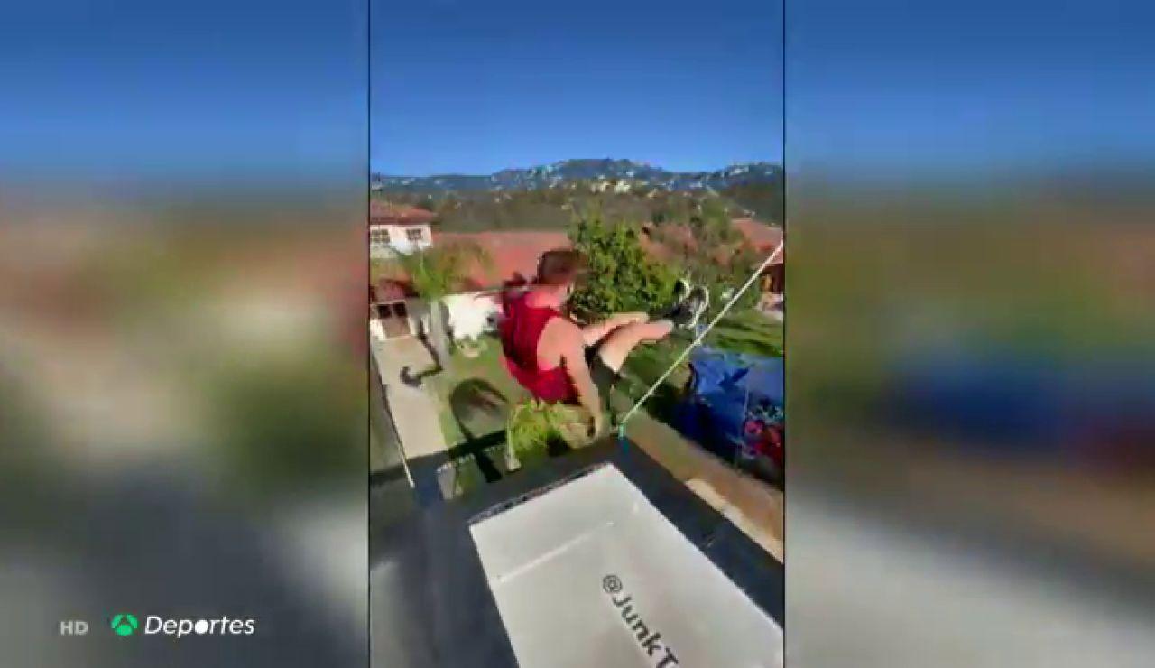 Garret Myers, la gran figura del tramp wall que realiza acrobacias imposibles sobre una cama elástica y con la ayuda de un muro
