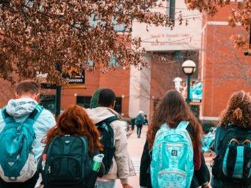 Alumnos al colegio