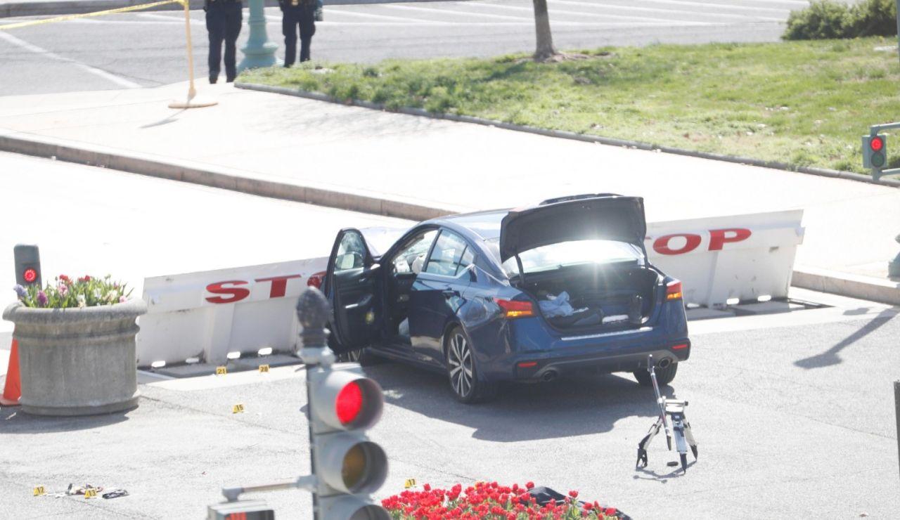 Muere un policía atropellado en el ataque al Capitolio de Estados Unidos; el conductor ha sido abatido por los agentes