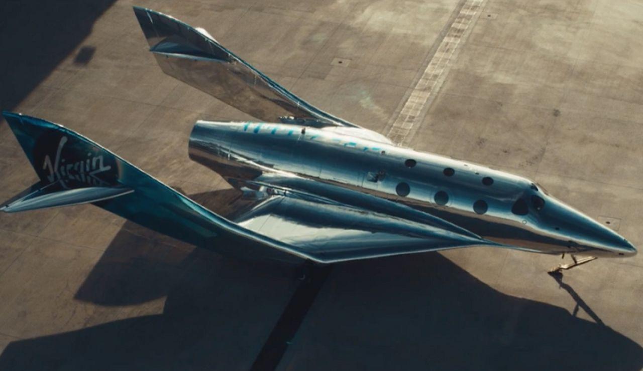Así es VSS Imagine, el primer avión de Virgin Galactic para el turismo espacial con un diseño de ciencia ficción