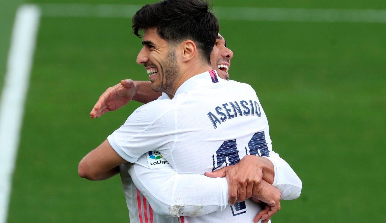 Asensio celebra su gol ante el Eibar