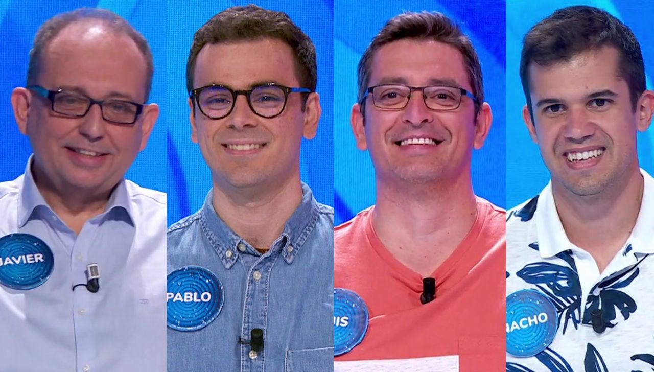 Javier, Pablo, Luis y Nacho en 'Pasapalabra'