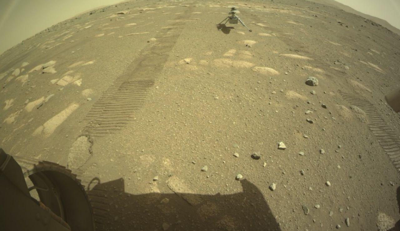 El helicóptero Ingenuity se desliga del Perseverance y toca la superficie de Marte