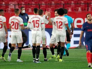 El Atlético de Madrid sucumbe ante el Sevilla en el Pizjuán y pierde comba en la Liga