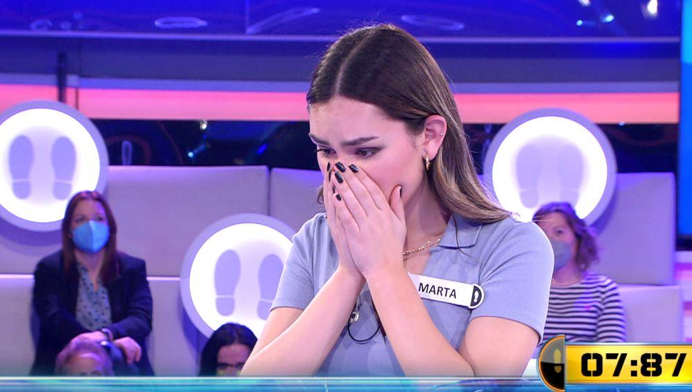 ¡De la risa al llanto! Marta se despide de '¡Ahora caigo!' en su segundo programa