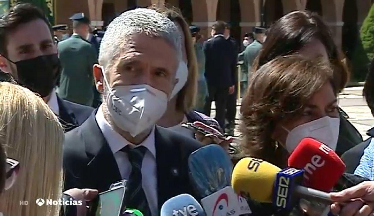 """Grande-Marlaska asegura que no tiene """"ninguna voluntad"""" de dimitir tras anularse la destitución de Pérez de los Cobos"""
