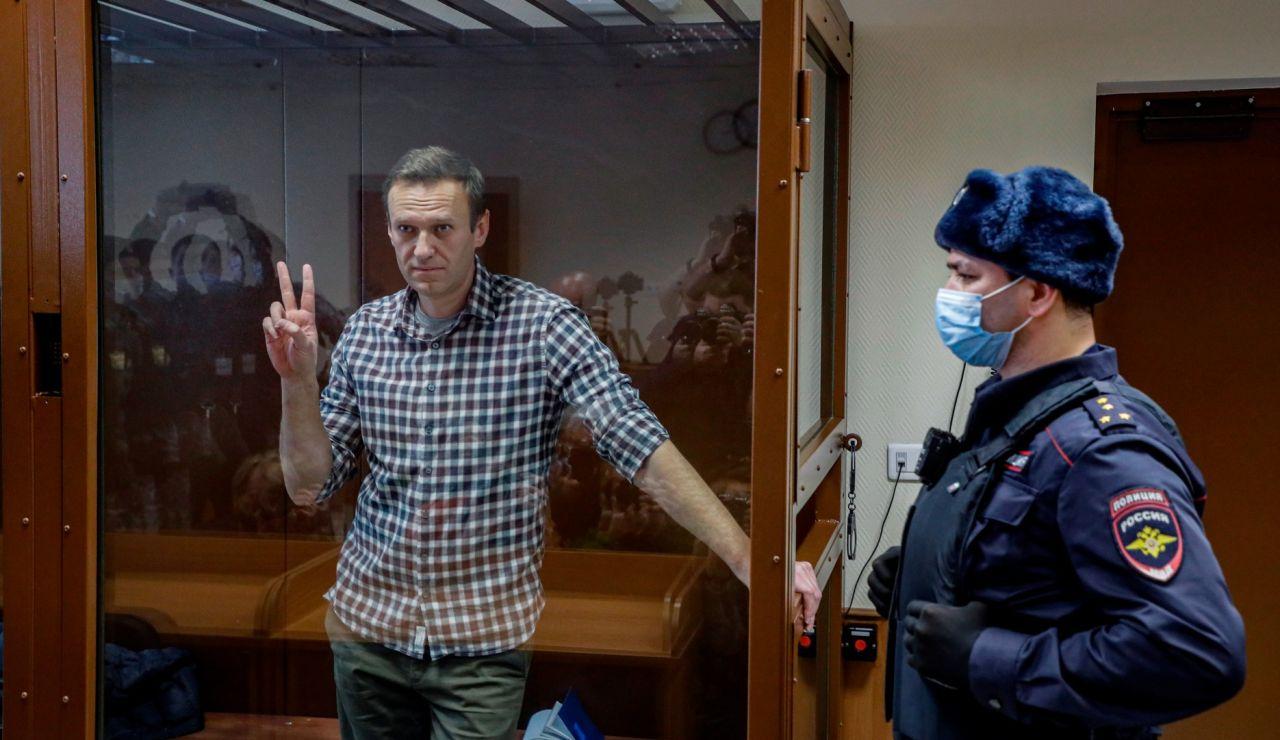 El líder opositor ruso, Alexéi Navalny, en prisión