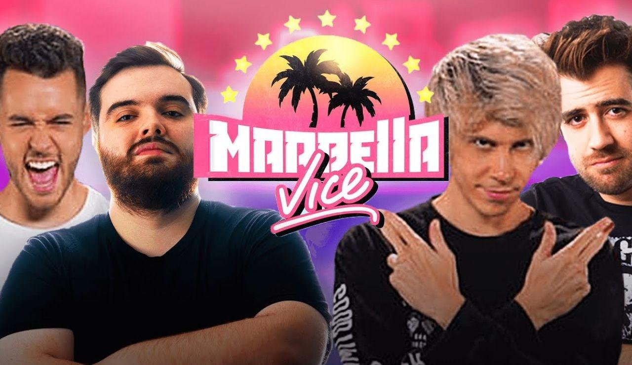 TheGrefg, Ibai, Rubius y Auronplay, los más ilustres de Marbella Vice