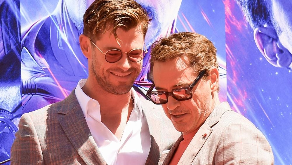 Chris Hemsworth y Robert Downey Jr.