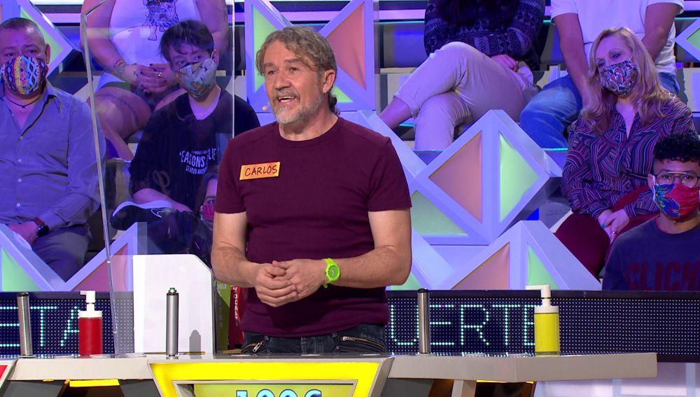Carlos regresa a 'La ruleta de la suerte' 25 años después