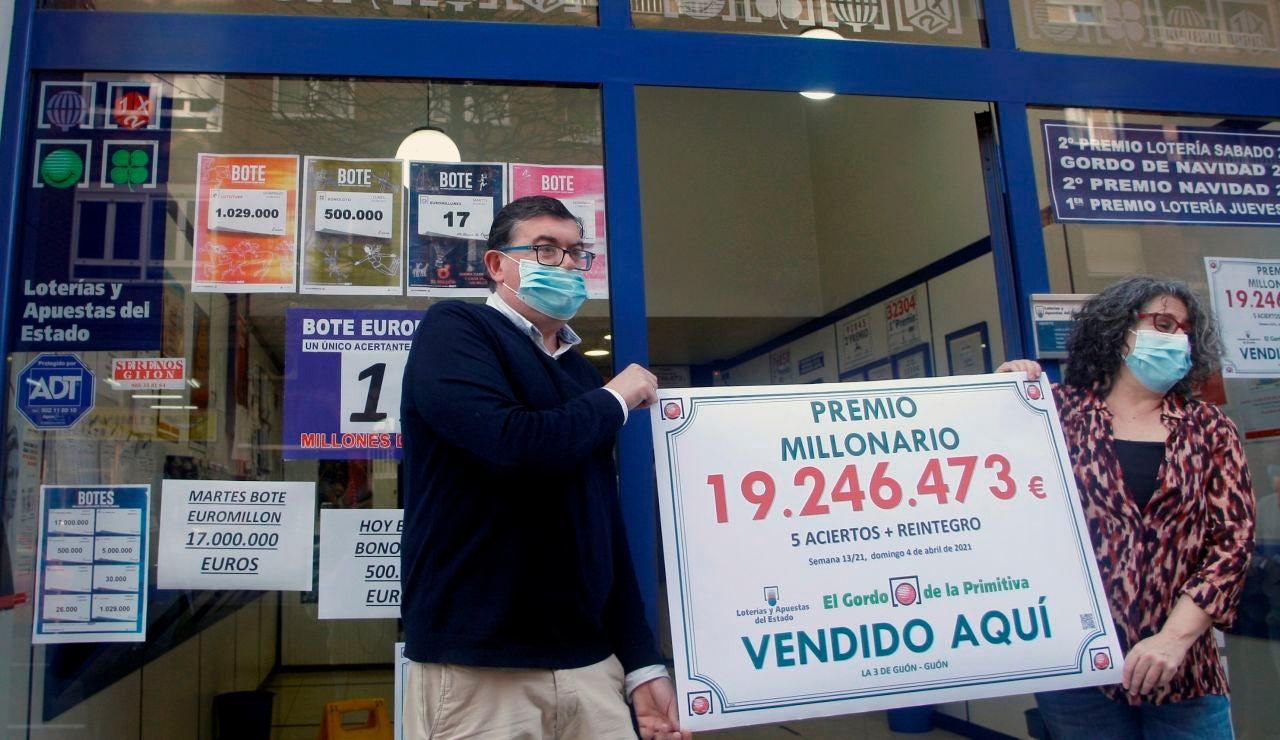 El Gordo de la Primitiva: Un acertante anónimo sella en Asturias un boleto premiado con 19,2 millones de euros