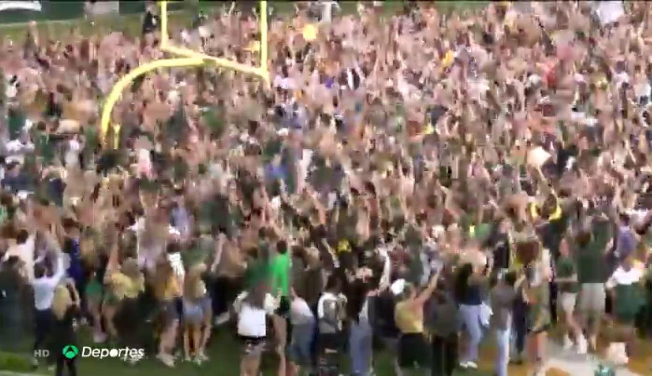 Cientos de aficionados celebran sin mascarilla ni distancia de seguridad el título de Baylor en la NCAA