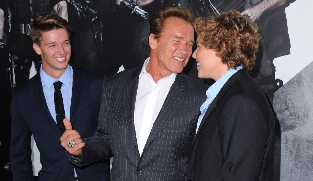 Arnold Schwarzenegger con sus hijos