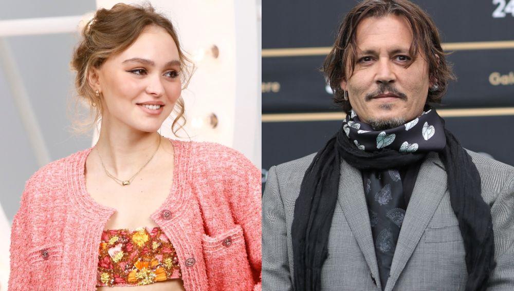 Lily-Rose Depp y su padre Johnny Depp