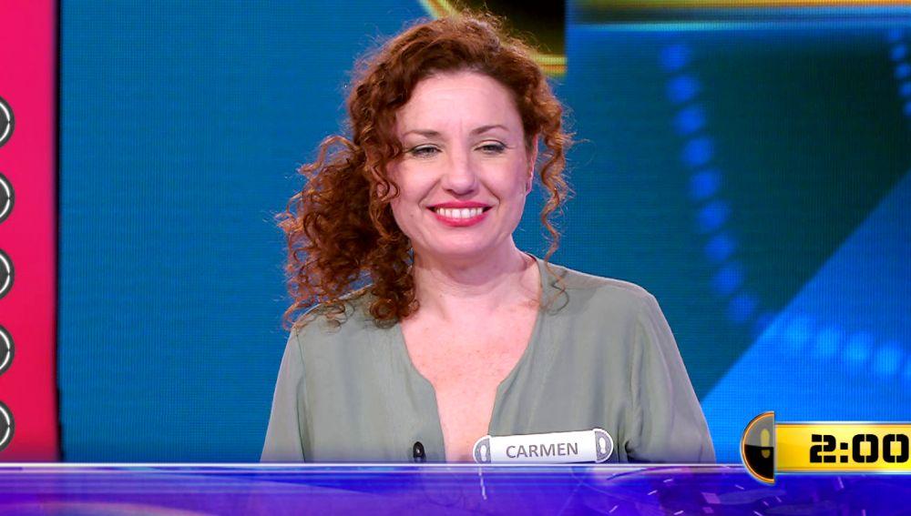 Carmen, a por 19.000 euros en su segundo Duelo Final en '¡Ahora caigo!'