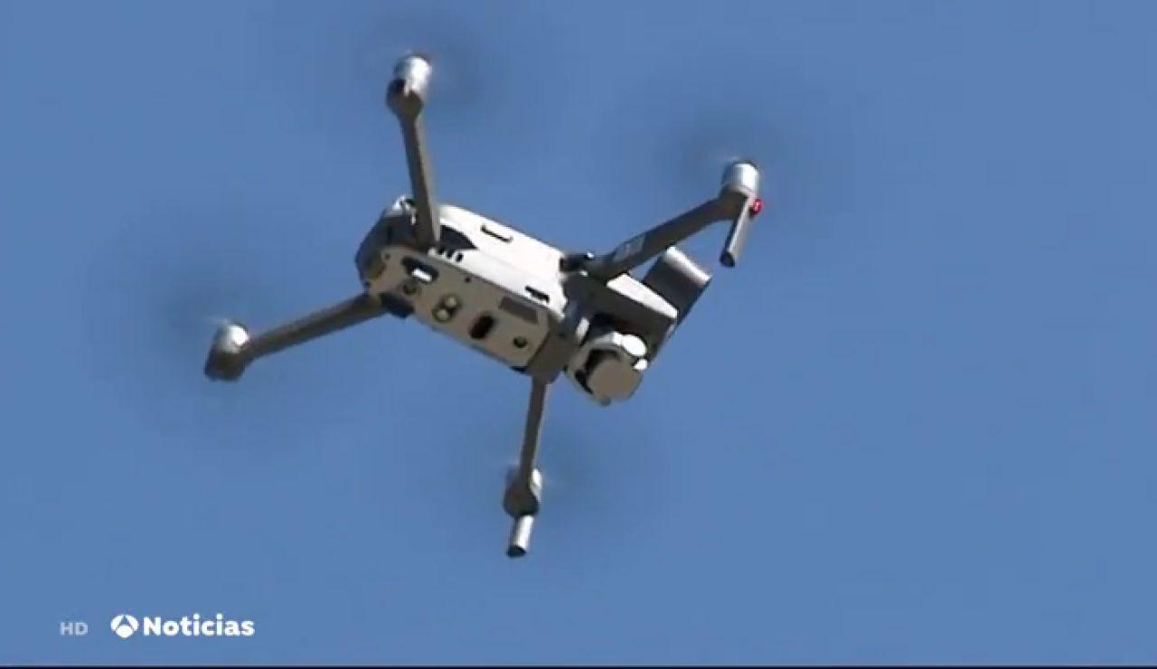 Varios drones vigilan Murcia desde el aire para cumplir las restricciones y evitar aglomeraciones