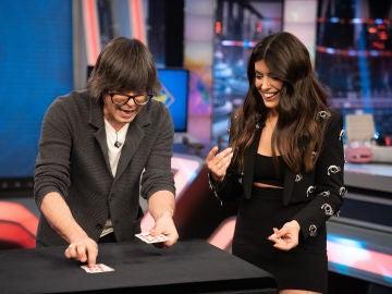 """Dulceida logra hacer magia con Luis Piedrahita en 'El Hormiguero 3.0': """"¡Estoy flipando!"""""""