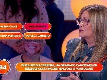 La insistencia de Marta Valverde y su fallo con Miguel Bosé desatan las risas en 'Una de Cuatro'