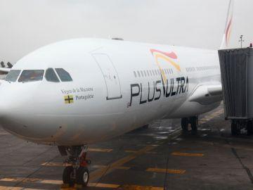 Un avión de la compañía aérea Plus Ultra
