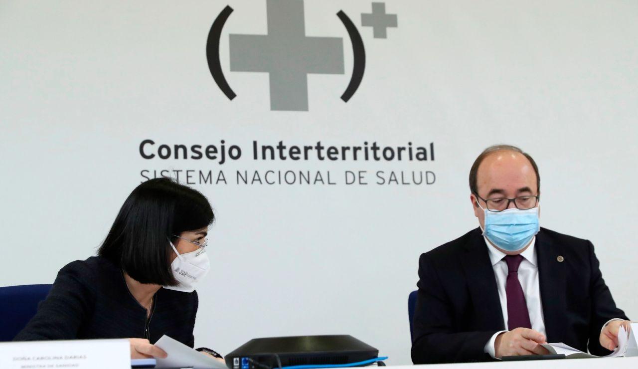 Carolina Darias y Miquel Iceta, en el Consejo Interterritorial de Salud