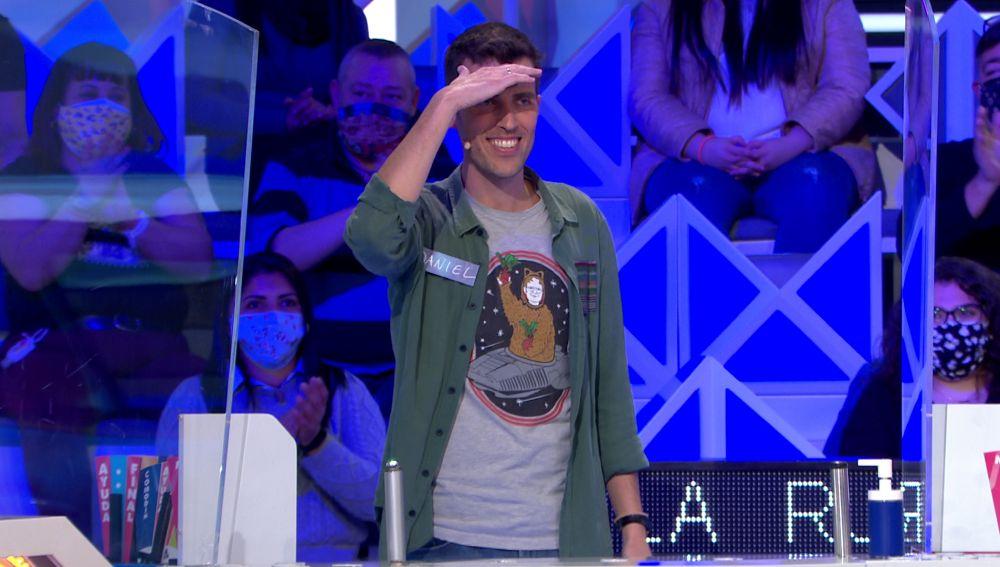 """Daniel, desesperado por no conseguir nada en 'La ruleta de la suerte': """"Estoy gafado"""""""