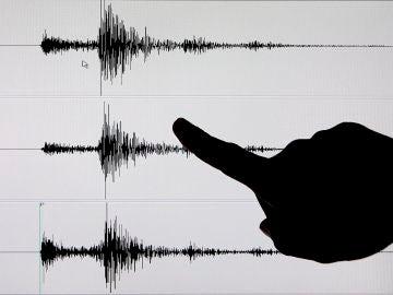 Datos de un sismógrafo tras un terremoto