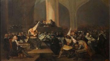 Francisco de Goya - Escena de Inquisición - Google Art Project