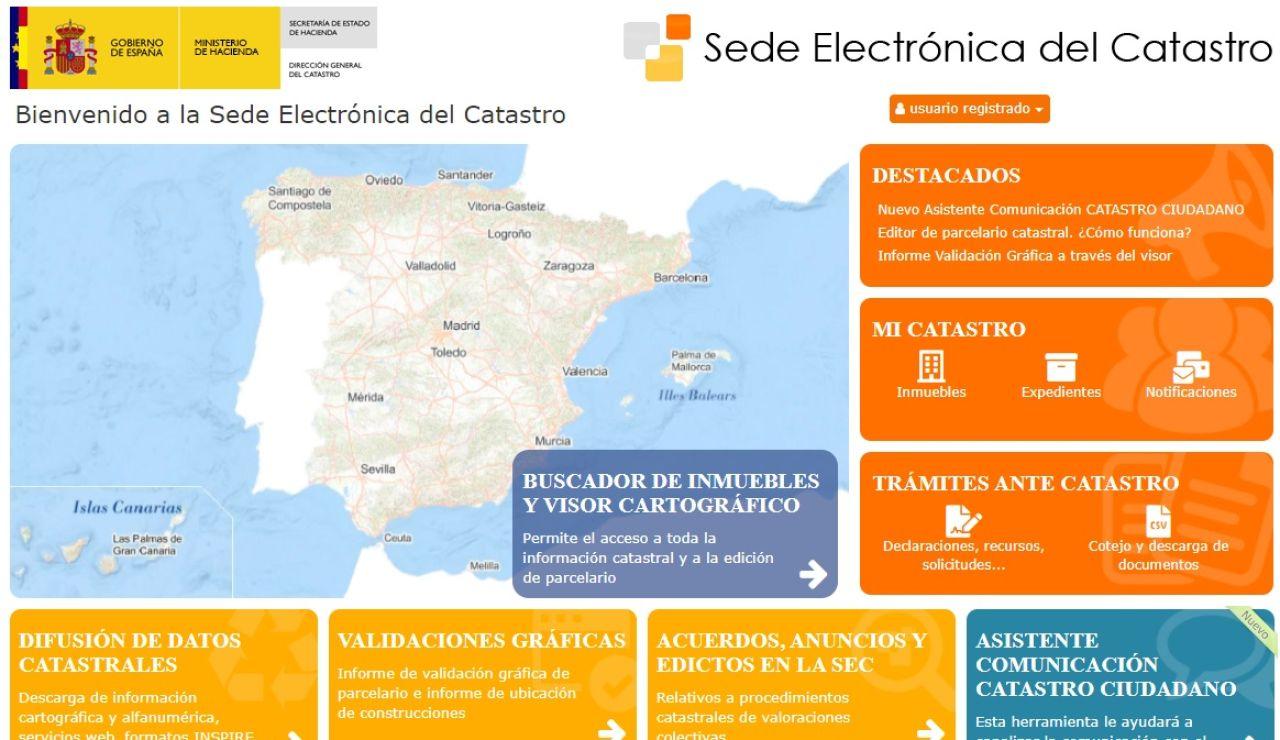 Portal de la Sede Electrónica del Catastro