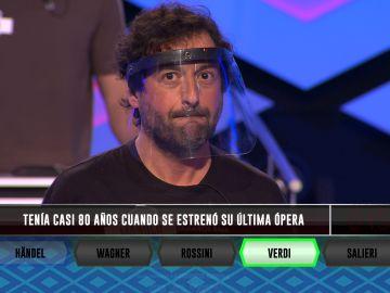 La acertada elección de Manolo: Verdi, protagonista del pleno de 'Los dispersos'