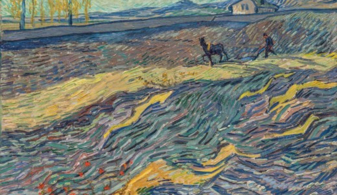 'Labrador en un campo' de Van Gogh