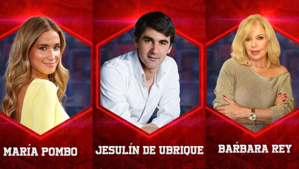 María Pombo, Jesulín de Ubrique y Bárbara Rey, concursantes de 'El Desafío' en su segunda temporada