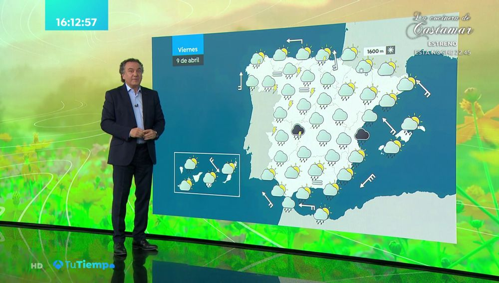 La previsión del tiempo hoy: Lluvias en las dos Castillas y Extremadura con aumento de temperatura en Baleares