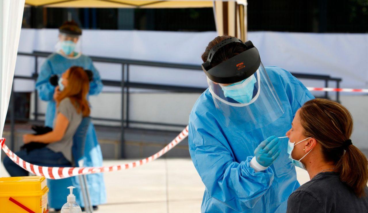 Test PCR de coronavirus en Extremadura