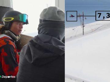 Valentino Guseli logra un nuevo récord de salto en halfpipe con su snowboard y alcanza los 7,30 metros de altura