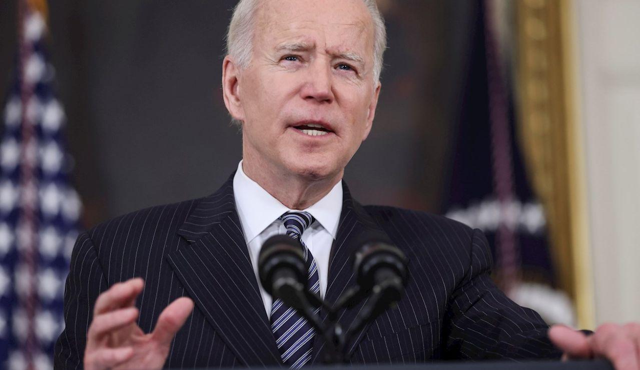 El presidente de EEUU, Joe Biden, que hoy ha anunciado medidas contra el uso de armas caseras