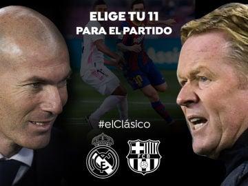 ELIGE TU 11: Haz tu alineación ideal de Real Madrid y Barcelona para el Clásico de la Liga Santander
