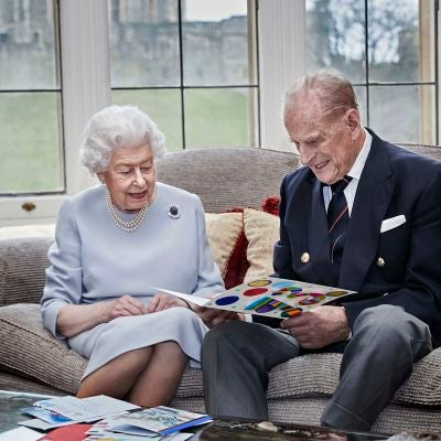 La reina Isabel II junto al Duque de Edimburgo