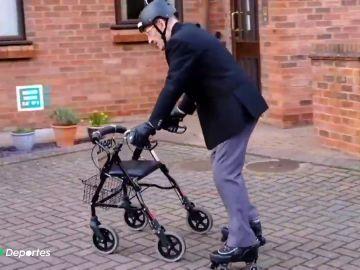 abuelo patinador