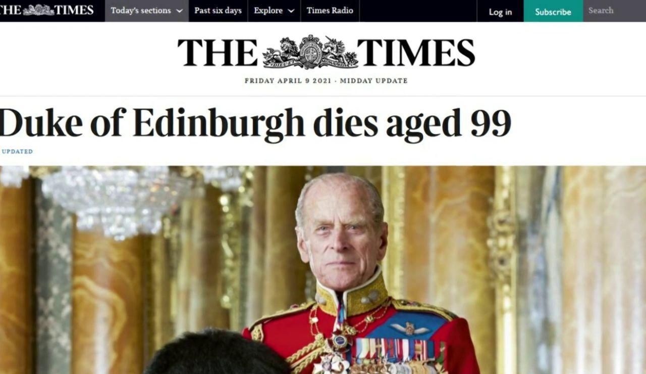 Así recoge la prensa británica la muerte de Felipe de Edimburgo, el marido de Isabel II