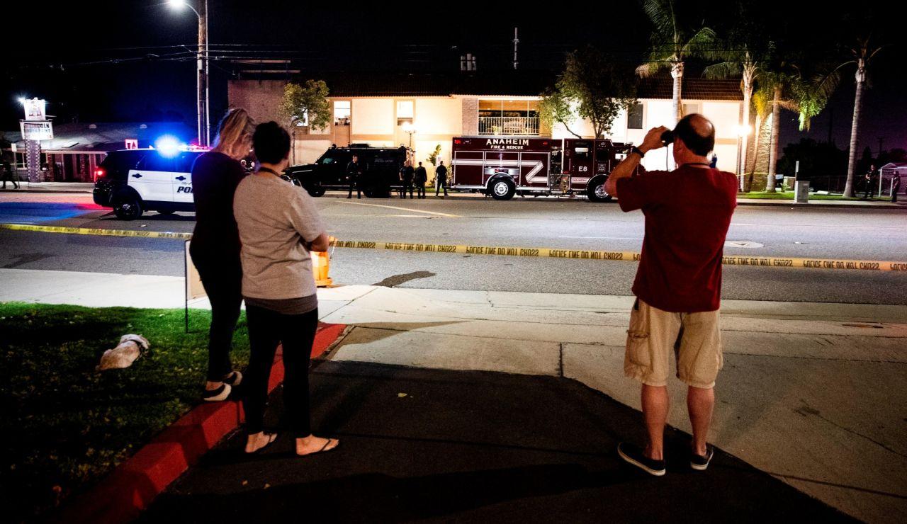 Imagen del lugar de un tiroteo en Los Ángeles