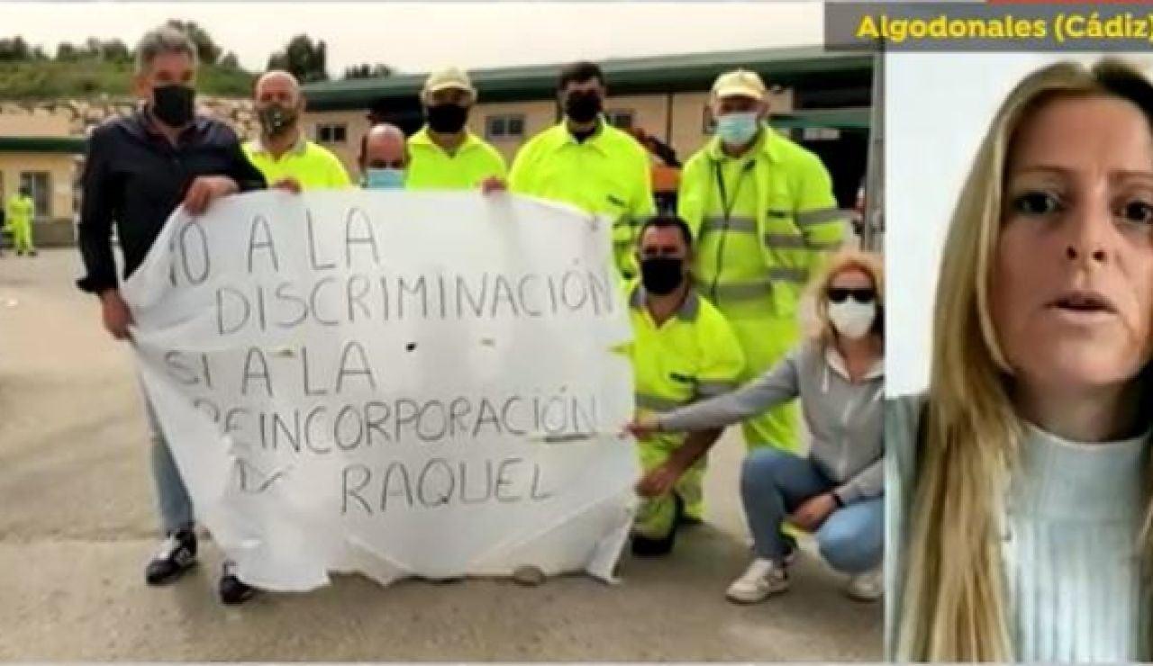 Raquel, despedida del Centro de Conservación de Carreteras en Cádiz