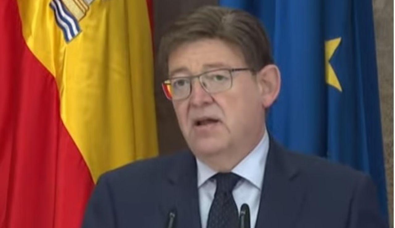 El president, Ximo Puig, en su comparecencia de este jueves