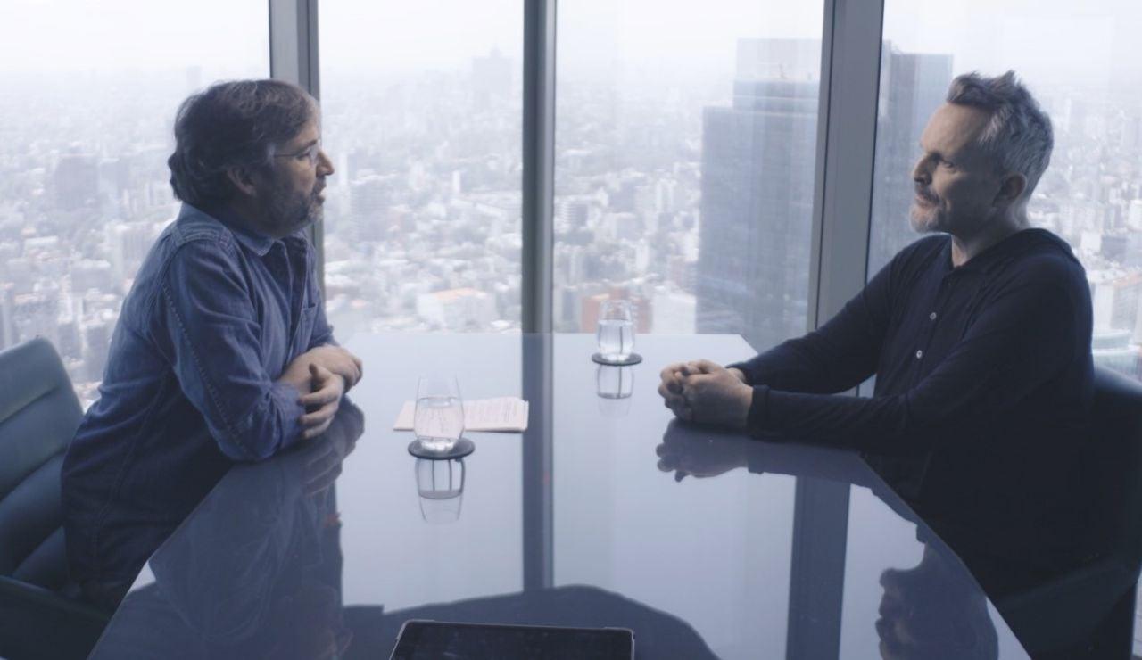 Miguel Bosé charla con Jordi Évole