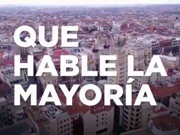 'Que hable la mayoría', el lema de campaña de Podemos para las elecciones de Madrid 2021