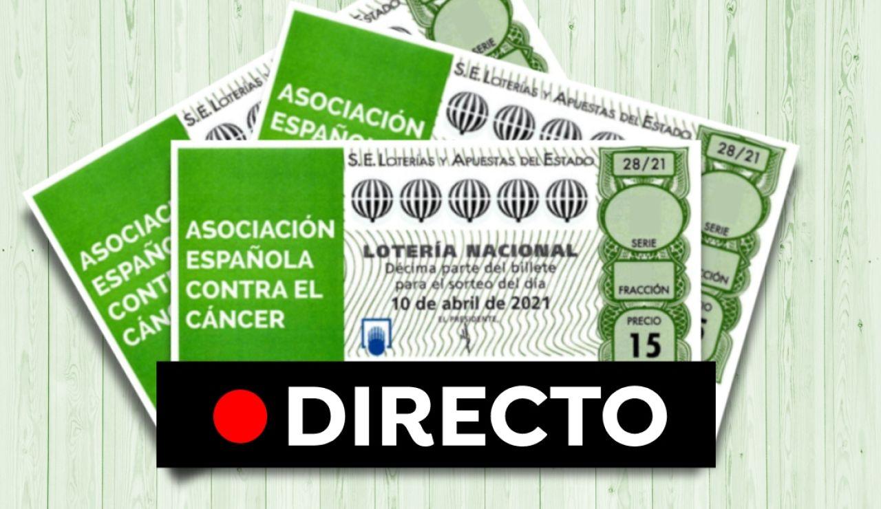 Comprobar Lotería Nacional: Resultado del sorteo extraordinario de la AECC hoy sábado 10 de abril