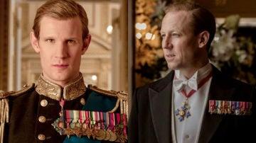 Matt Smith y Tobias Menzies en 'The Crown'