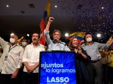 Guillermo Lasso, tras la victoria en las elecciones de Ecuador