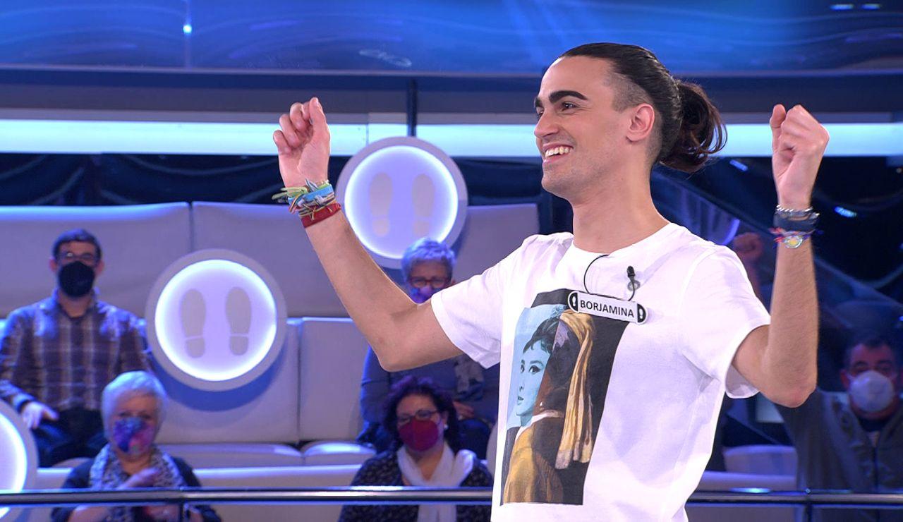El 'aplausómetro' del público le da 50.000 euros a Borja en '¡Ahora caigo!'