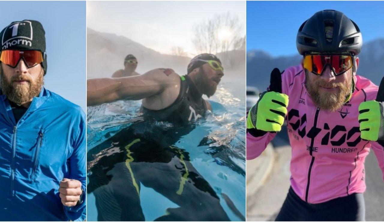 El salvaje reto de James Lawrence: correr 100 Ironman en 100 días