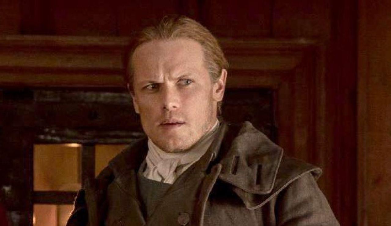 Sam Heughan como Jamie Fraser en 'Outlander'